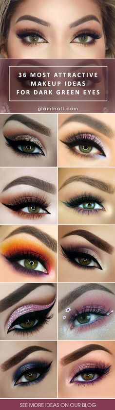 The Most Attractive Makeup Ideas for Dark Green Eyes - http://makeupaccesory.com/the-most-attractive-makeup-ideas-for-dark-green-eyes/