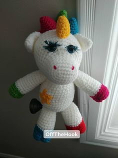 Hello Kitty, Dinosaur Stuffed Animal, Unicorn, Toys, Character, Animals, Art, Amigurumi, Activity Toys