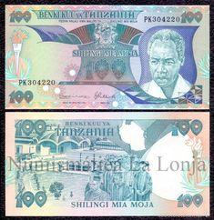 TANZANIA 100 SHILLINGS PRESIDENT JULIUS KAMBARAGE NYERERE 1986 PICK 14B FIRMA 8 SC UNC (Numismática - Notafilia - Billetes Extranjeros)