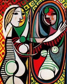 """iColor """"Masterpieces"""" ~ Girl In Front Of Mirror by Pablo Picasso, 1932"""