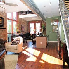 I want a loft. Colors, space, and light are really important for living!