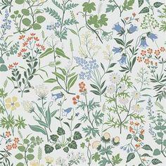 Flora wallpaper - white - Boråstapeter