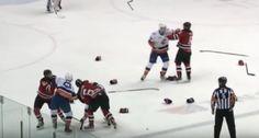 New York Islanders, New Jersey Devils Farm Teams Get Into Wild Brawl (Video)