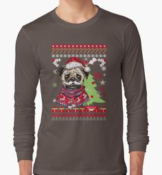 Pug Christmas Sweater by ziver