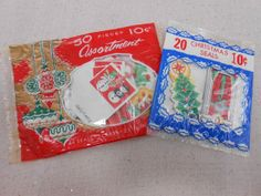 Vintage Christmas Seals Stickers Tags 2 Unopened Packages 70 pieces