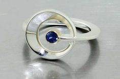 style # 22611000  shapes ring - sapphire and sterling silver