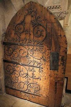 old door - beautiful Iron work