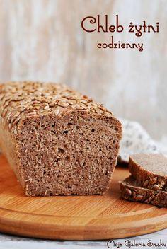 Chleb żytni codzienny Rye Bread, Bread Rolls, Bread Recipes, Cooking Recipes, Polish Recipes, Pie Dessert, Vegan Cake, Banana Bread, Caramel