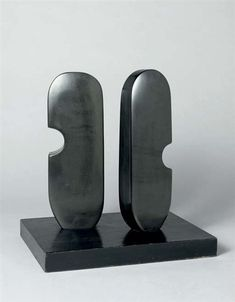 View Two Forms (Maori) By Barbara Hepworth; carved slate on black-painted wooden base; Access more artwork lots and estimated & realized auction prices on MutualArt. Barbara Hepworth, Art Sculpture, Stone Sculpture, Abstract Sculpture, Metal Sculptures, Contemporary Sculpture, St Ives, Mondrian, Glass Art