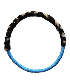 Take a look at this Blue & Black Wrapped Bracelet on zulily today!