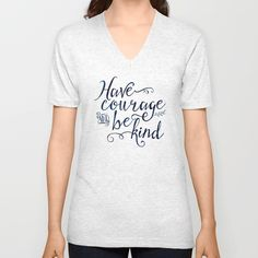 Have Courage and Be Kind (navy colorway) Unisex V-Neck