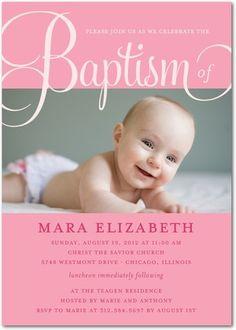 Baptism, Christening Invitations Fashionable Fonts - Front : Princess
