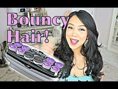 EASY Bouncy Curls with Hot Rollers - itsjudytime hair tutorial. Everyone asks how I curl my hair... like this! So easy!