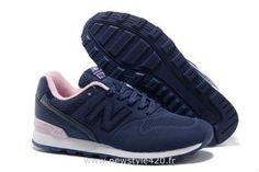 New Balance 996 Chaussures Marine Rosa Blanche Classiques Femme (New Balance Bleu Femme)