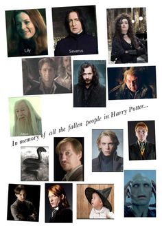 """Fallen people in Harry Potter:Part 1"" by bloodnote ❤ liked on Polyvore featuring art"