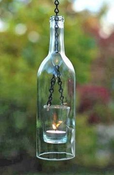 Resultado de imagem para garrafas na decoracao