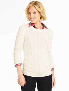 Talbots - Button-Cuff Cable Sweater | Pullovers |
