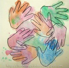 Watercolor Handprint Craft from Handprint and Footprint ART