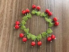 Kiraz oyası - YouTube Organza Flowers, Diy Flowers, Fabric Flowers, Bow Jewelry, Tatting Jewelry, Hand Embroidery Designs, Ribbon Embroidery, Saree Tassels Designs, Fancy Bows