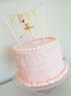 Operation Ballerina Birthday Cake: Cherry Vanilla Cake, from scratch! | Four-Eyed Girlie