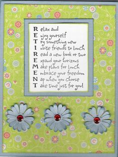 Retirement Scrapbook Quotes | Card: Retirement