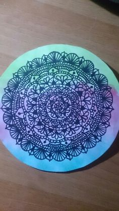 Mandala con acuarelas