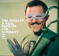Riddler ABC TV advertisement from the Batman TV series Batman Batcave, Batman 1966, I Am Batman, Batman Robin, Superman, Batman Tv Show, Batman Tv Series, Comic Book Characters, Comic Books