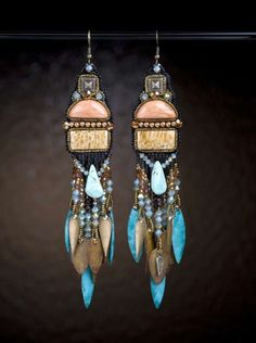 Arizona Sunset Earrings from Sherry Serafini's Sensational Bead Embroidery