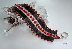 Armbänder - Armband mit Glasschliffperlen Schwarz und Rot - ein Designerstück von MartinDesign bei DaWanda