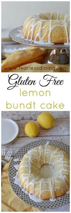 Gluten Free Lemon Bundt Cake  http://www.fearlessdining.com