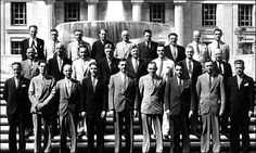 FBI: The first graduates of the Bureau's training program for national police exectives, the forerunner of today's National Academy, in 1935. Sin...