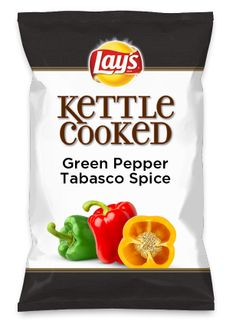 Wouldn't Green Pepper Tabasco Spice be yummy as a chip? Lay's Do Us A Flavor is back, and the search is on for the yummiest chip idea. Create one using your favorite flavors from around the country and you could win $1 million! https://www.dousaflavor.com See Rules.