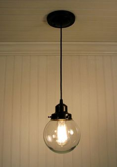 Biddeford II. Clear Glass PENDANT Light - Clear Glass Lighting Fixtues - The Lamp Goods - 2