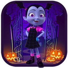 Vampirina Halloween Runner is a platform clicker that invites you to help Vampirina, a vampire girl, to collect all the candy spread over the different levels of the game. Disney Halloween, Holidays Halloween, Halloween Kids, Halloween Costumes, Halloween Runner, Spider Book, Disney Junior, Disney Jr, Creepy Toys