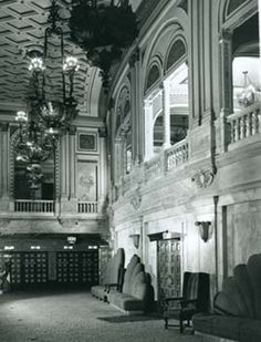 Lobby then of the Orpheum Theater (built 1926) in Los Angeles' Broadway Theater District