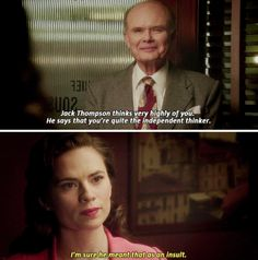 """""""I'm sure he meant that as an insult"""" - Peggy and Vernon Masters #AgentCarter"""