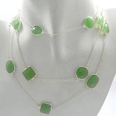 Sweet Prehnite Hydro gemstone 925 sterling silver chain fashion women necklace #Handmade #Chain #Magicalcollection #Gemstone #Necklace Jewelry #Sterling Silver #Necklace
