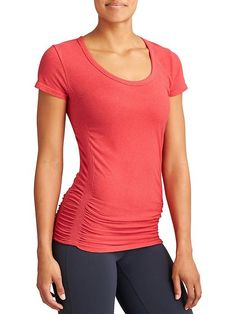 Pure Tee - Hold your om like a natural in this breathable, seamless organic cotton top with ruching for a just-right fit.