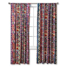 Mudhut™ Talavera Curtain Panel $27  Great for colorful kids' game room!