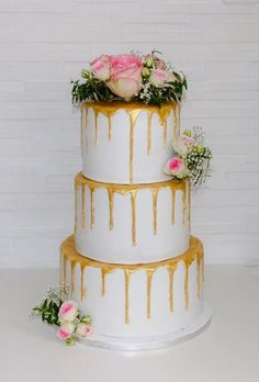 42 Yummy And Trendy Drip Wedding Cakes ❤ drip wedding cakes gold drip cake mycakeart de #weddingforward #wedding #bride