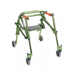 Nimbo Rehab Lightweight Posterior Posture Walker with Seat, Lime Green, Junior