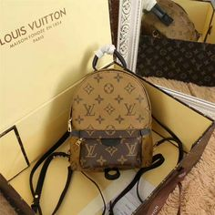 LOUIS VUITTON Monogram Canvas Palm Springs Backpack Bag