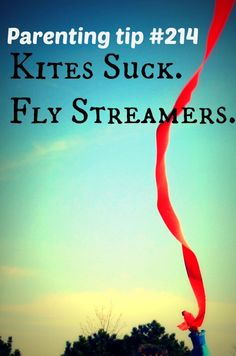 Don't buy kites!  Use Streamers for a cheap alternative.