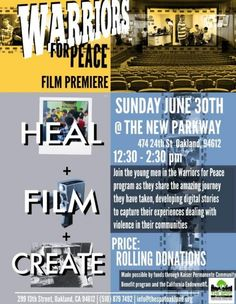Warriors For Peace Film Premier Oakland, CA #Kids #Events