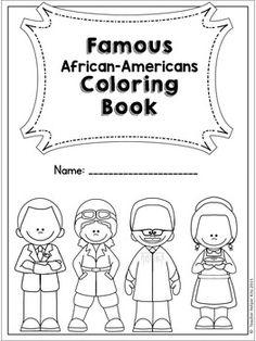 African American, Inventors Coloring, Color Sheet, Black