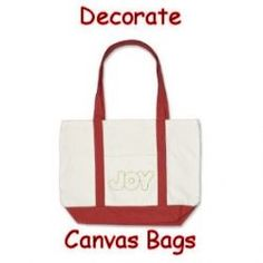 Decorate Canvas Bags - Choose from plain bags and outline drawings on bags