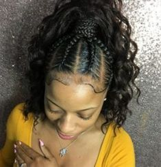 Black braided hairstyles 646970302701802178 - 35 Braid Hairstyles With Weave Source by tatiashabazz Weave Ponytail Hairstyles, Ponytail Styles, Braid Styles, Girl Hairstyles, Curly Hair Styles, Natural Hair Styles, American Hairstyles, Black Hairstyles, Braided Ponytail Weave