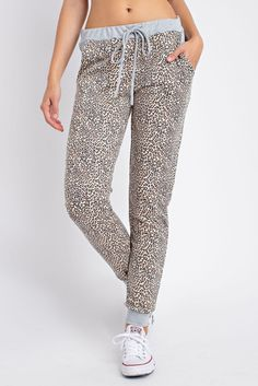 Leopard Print Jogger Pants Jogger Pants, Joggers, Grace And Co, Cuff Sleeves, Contemporary Fashion, French Terry, Love Fashion, Elastic Waist, Maternity