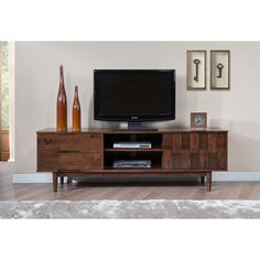 Tessuto Tobacco Finish 70-inch Entertainment Center - Overstock™ Shopping - Great Deals on Entertainment Centers