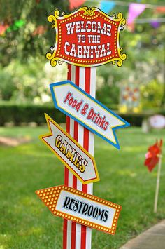 carnival birthday pictures | circus carnival birthday party games sign 2 | Flickr - Photo Sharing!
